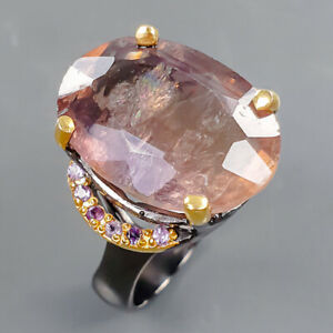 13ct+ One of a kind Fluorite Ring Silver 925 Sterling  Size 8.75 /R178274