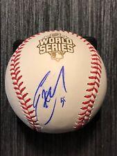ERIC HOSMER (Kansas City Royals) signed 2015 World Series Baseball  ~  JSA/COA