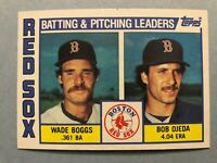 1984 Topps Boston Red Sox Complete Team Set - 26 cards  Eckersley/Boggs/Rice