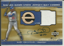 New listing 2001 UD Elolve Gary Sheffield Signed GU Jersey Bat Combo Auto $RARE$ 500 HR's!