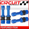 Circuit Performance VS48 Blue Aluminum Long Bolt-In Valve Stems 48mm (Set of 4)