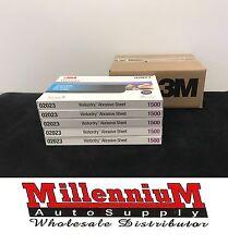 """5 of 3M 1500 GRIT Wet or Dry Black Sandpaper 5.5""""x 9"""" Sanding 3M-2023 (BOX OF 5)"""