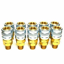 """10 Foster Quick Connect 1/4"""" Male Npt Air Coupler - M Style Fitting"""