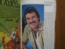 1980 TV Guide(FALL PREVIEW/MAGNUM P I/SECRETS OF MIDLAND  HEIGHTS/HARPER  VALLEY