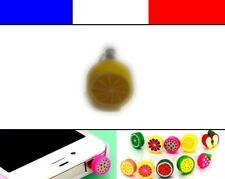 Cache anti-poussière jack universel iphone capuchon bouchon FRUIT Citron jaune