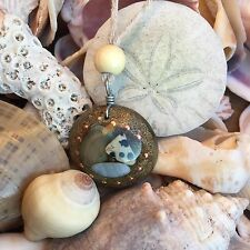 Orgonite Necklace/Pendant-Crystal Healing Energy Device-Aura Booster-Seashell 96