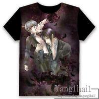 Anime Black Butler 黑執事 Otaku Pullover Crew Neck Black Unisex T-shirt Tops #TY-10