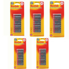 AAA batteries 50 Pack Kodak Extra Heavy Duty For Toy Camera Torch Remote New