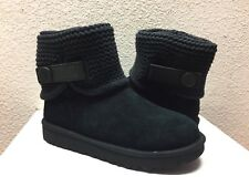 UGG SHAINA KNITTED BLACK SUEDE BOOT USA 6 / EU 37 / UK 4.5 - NEW