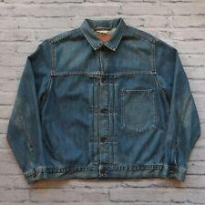 Vintage 90s Levis Type 1 Denim Trucker Jacket Size L 70501-04 Medium Wash