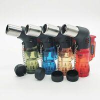 Three Nozzle Jet Lighter Spray Gun Butane Cigar Cigarette Windproof Gas Lighters
