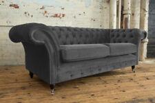 Handmade 3 Seater Velvet Chesterfield Sofa, Reflex Cushion - Other Colours -