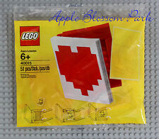 NEW Lego Valentine HEART PHOTO FRAME Set - Red & White Book Poly Bag 40015
