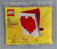 NEW Lego Valentine HEART PHOTO FRAME Set - Red & White Book Poly Bag 40015