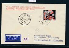42709) AUA FF Frankfurt - Wien 5.5.58 Brief ab Mettlach Saar R!