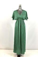 NEW womens green polka dot MICHAEL KORS column dress short sleeve modern XS
