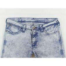 Wrangler Stokes Womens Blue Acid Wash  Skinny Stretch Jeans  W30 L30 (16866)