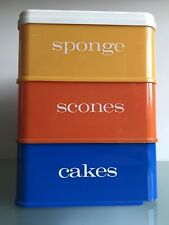 More details for tiered storage kitchen cake box stacking stewart fiesta nally ware vintage 1960s