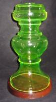 "Large Vaseline Glass Uranium Lamp Base, 12 1/2"" Tall"