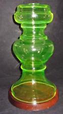 "Large Vaseline Glass Uranium Lamp Base, 12 1/2"" Tall"