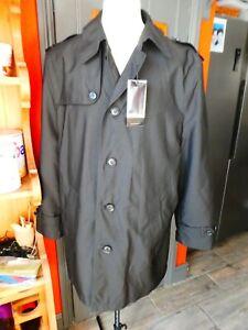 MENS M&S LARGE BLACK STORMWEAR MAC RAINCOAT JACKET, BNWT. NEW.