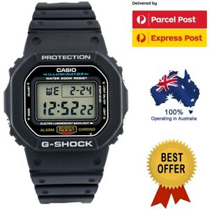 Casio G-Shock DW5600E-1V DW-5600E-1V Digital Black Retro Sports Mens Watch