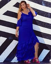 TRULY YOU cold shoulderruffle dress SIMPLY BE uk size 18   bnwt