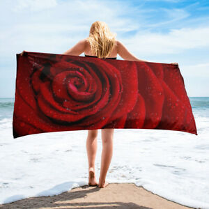 Red Rose Beach Towel Floral