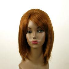 perruque AFRO femme 100% cheveux naturel châtain clair cuivré ISA 02/30