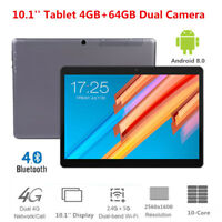 10.1'' 4G Tablet PC 4G+64G Android 8.0 10-Core 2560*1600 2.4/5Ghz WiFi Bluetooth