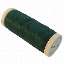SETA reale pur fil de soie vert bouteille 167
