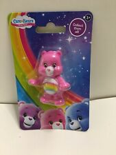 Cheer Bear pink Care Bear Mini Figure collectible or cake topper