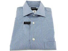 Pronto Uomo Blue Gray Stripes Regular Fit Non-Iron Dress Shirt 15 32/33