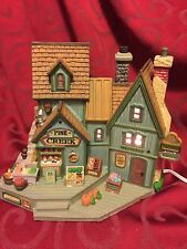 LEMAX Christmas Village PINE CREEK MARKET Lighted House VAIL VILLAGE w/Box AS-IS