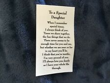 7  Ceramic Decals kiln Special daughter poem  3 1/4""
