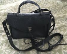 REBECCA MINKOFF Black Leather Mini Darren Crossbody Purse Bag-NEW
