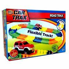 KIDS COLOURFUL CAR TRAX FLEXIBLE TOY RACE TRACK PLAY SET BOY XMAS GIFT, 3years+