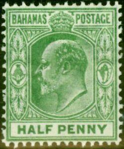 Bahamas 1906 1/2d Pale Green SG71 V.F Very Lightly Mtd Mint