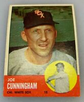 1963 Topps # 100 Smokey Joe Cunningham Baseball Card Chicago White Sox