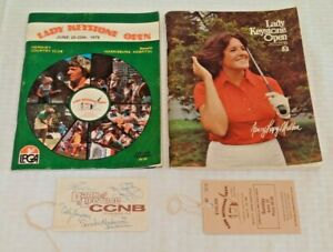 1978 1980 Keystone Lady Open Golf Official Program Lot Ticket Autographed Signed