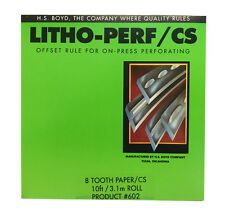 HS Boyd Litho Perf 8 Tooth / Paper CS 10 feet 3.1m Roll #602 Bindery Supplies
