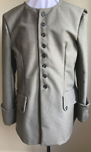 Colonial 18th Cent. Outlander Highlander Pirate Coat Olive Drab Twill NWOT L/XL