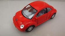 "Collectible Die Cast RED Volkswagen ""NEW BEETLE"" VW 1:32 Scale"