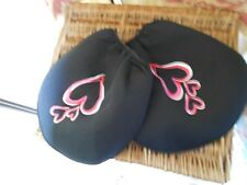 BLACK FOAM HEADREST COVERS WITH GIG PINK HEARTS FORD RANGER 2003-2006 # 4094