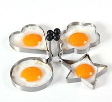 4Pcs Big Size Stainless Steel Kitchen Cooking Tools Love, Flower, Star Shaped Bi