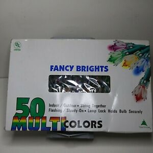 Vintage Trim A Home Christmas Fancy Lights 50 Multi Colors 100% Tested