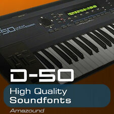 D50 SOUNDFONT LIBRARY 64 SF22 FILES 1170 SAMPLES AMAZING QUALITY MAC PC LOGIC FL