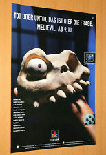 1997 MediEvil Video game Rare Old Advertising Small Poster Promo Ad Print PS1