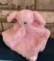 Blankets & And Beyond Baby Girl Pink Bunny Nunu Lovey Security Blanket Swirl