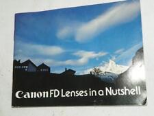 ORIGINAL CANON FD LENSES IN A NUTSHELL, GUIDE FOR FD LENSES